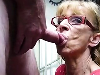 Very elderly hookup amateur granny gives blowjob
