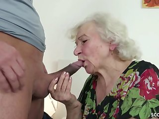 GERMAN ORDERLY CAUGHT GRANNIE JERK AND Reserved WITH Tamp