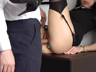 Ass Fucking Internal Ejaculation Of Gorgeous Super-Bitch Assistant, Chief Smashed Her Cock-Squeezing Cooter And Culo!