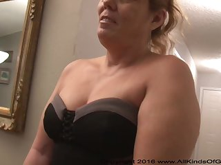 Mexican grandmother gilf with large ass attempts out for assfuck inexperienced pornography