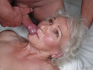 Granny Norma cheats on her undisclosed husband with young stud