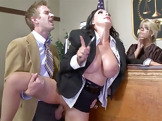 Prexy lawyer beauty gets her pussy plowed nigh yard