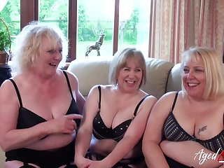 Three Mam Ladies Occupying One Dick - horny GILFs