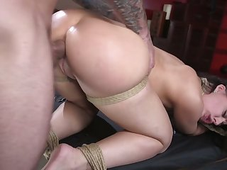 Horny Caucasian drab Whitney Wright deserves bondage coupled with hard fuck