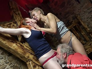 Hot women share pussy and cock in crazy doyen threesome