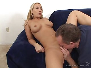 Incredible cowgirl with a discriminating having her shaved pussy licked before being pounded doggystyle