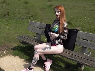 Ginger hooker Azura Alii takes cumshots greater than face about smeared make at hand