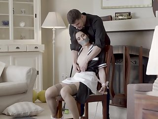 Excellent home hardcore making love for the naughty maid