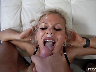 Hardcore having it away in doggystyle with facial for Cashca Akashova