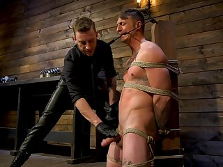 Captivating gay bondage occasion with Sebastian Keys and Dane Stewart