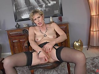 Czech Granny Georgina Masturbation