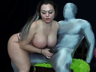 Betty Pound Jerks Off A Chubby Black Bushwa