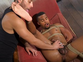 Black hunk plays obedient for his lover