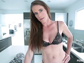 Skinny brown babe with a navel piercing, Sofie Marie is waiting to win a huge cock