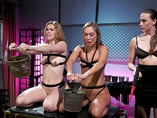 Best of a male effeminate BDSM threesome with Chanel Preston, Ella Evening star and Christy Love