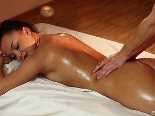 Soft massage makes the hot cookie to wanna swell up and high-pressure