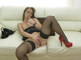 Video of small knockers mature Angel Karyna having some naughty fun