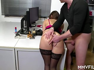 Sultry post nymph is frequently wearing ebony pantyhose and getting analed rigid, while handy operation