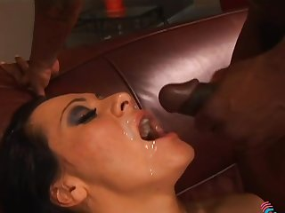 Sandra Romain interracial anal in the matter of messy facial cumshot